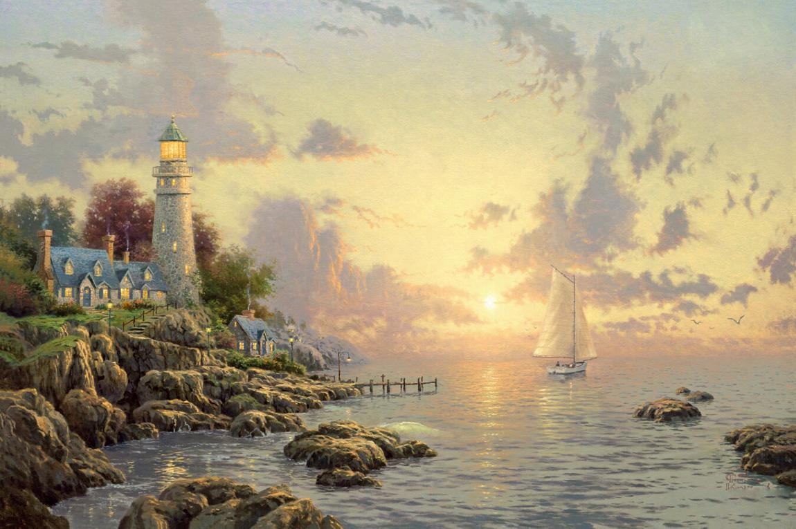Thomas Kinkade The Sea Of Tranquility