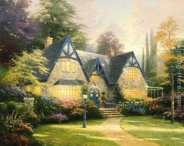 Thomas Kinkade Winsor Manor painting   framed paintings for sale