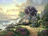 Thomas Kinkade A New Day Dawning painting