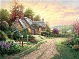 Thomas Kinkade Famous Paintings - A Peaceful Time