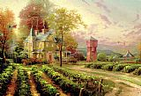 Thomas Kinkade Canvas Paintings - Abundant Harvest