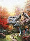 Thomas Kinkade Autumn at Ashley's Cottage painting