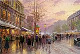Thomas Kinkade BOULEVARD OF LIGHTS PARIS painting