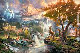 Thomas Kinkade Bambi's First Year painting