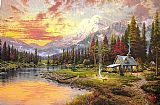 Thomas Kinkade Beginning of a Perfect Evening I painting