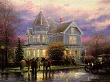 Thomas Kinkade CHRISTMAS MEMORIES painting
