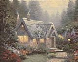 Cottage Canvas Paintings - Cedar Nook Cottage