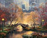 Thomas Kinkade Central Park in the Fall painting
