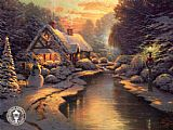 Famous Evening Paintings - Christmas Evening