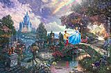 Famous Dream Paintings - Cinderella Wishes Upon a Dream
