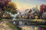 Bridge Canvas Paintings - Cobblestone Bridge