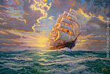 Thomas Kinkade Courageous Voyage painting