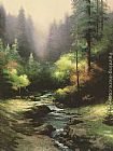 Thomas Kinkade Creekside Trail painting