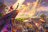 Thomas Kinkade Disney Dreams Collection VII The Lion King painting