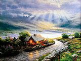 Thomas Kinkade Emerald Isle Cottage painting