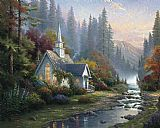 Famous Forest Paintings - Forest Chapel