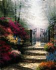 Thomas Kinkade Garden Of Promise painting