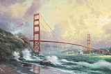 Famous Bridge Paintings - Golden Gate Bridge San Francisco