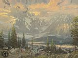 Thomas Kinkade Great North painting