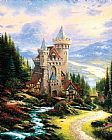 Thomas Kinkade Guardian Castle painting