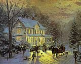 Famous Home Paintings - HOME FOR THE HOLIDAYS