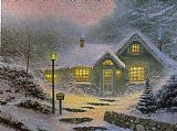 Thomas Kinkade Home for the Evening painting