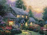 Thomas Kinkade Julianne's cottage painting
