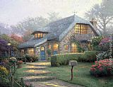 Thomas Kinkade Wall Art - Lilac Cottage