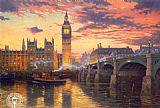 Thomas Kinkade London painting