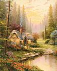 Thomas Kinkade Wall Art - Meadowood Cottage
