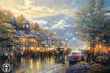 Thomas Kinkade Mountain Memories painting