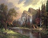 Thomas Kinkade Mountains Declare his Glory painting