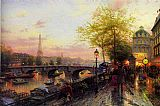 Thomas Kinkade PARIS EIFFEL TOWER painting