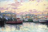 Thomas Kinkade San Francisco Fisherman's Wharf painting