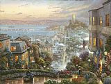 Famous Street Paintings - San Francisco Lombard Street