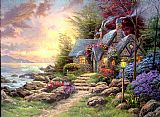 Thomas Kinkade Seaside Hideaway painting