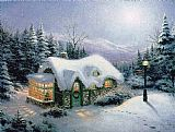 Famous Night Paintings - Silent Night