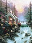 Thomas Kinkade Sweetheart Cottage II painting
