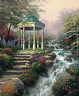 Thomas Kinkade Sweetheart Gazebo painting