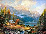 Thomas Kinkade Famous Paintings - The Beginning of a Perfect Day
