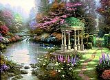 Thomas Kinkade Famous Paintings - The Garden of Prayer