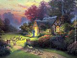 Thomas Kinkade The Good Shepherd's Cottage painting