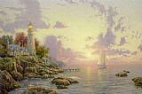 Thomas Kinkade The Sea Of Tranquility painting