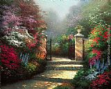 Thomas Kinkade Wall Art - The Victorian Garden