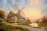 Thomas Kinkade The Wind Of The Spirit painting