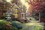 Thomas Kinkade Victorian Autumn painting