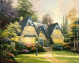 Thomas Kinkade Winsor Manor painting