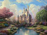Famous Castle Paintings - a new day at the Cinderella's castle