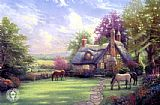 Thomas Kinkade a perfect summer day painting