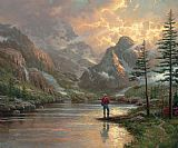 Thomas Kinkade Canvas Paintings - almost heaven